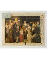 Enrico Pambianchi, Piccoli Monarchi crescono, tecnica mista su tela, 50x40 cm, 2013