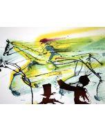 Salvador Dalì, Il cavallo da corsa, litografia, 36x56 cm tratta da Les Chevaux de Dalì, 1970-72