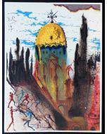 Salvador Dalì, Atto 1, Scena 1, serigrafia, 31x42 cm, tratta da Romeo e Giulietta, 1975