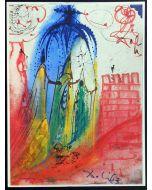 Salvador Dalì, Atto 1, Scena IV, serigrafia, 31x42 cm, tratta da Romeo e Giulietta, 1975