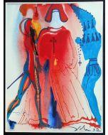 Salvador Dalì, Atto III, Scena I, serigrafia, 31x42 cm, tratta da Romeo e Giulietta, 1975
