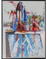 Salvador Dalì, Atto IV, Scena V, serigrafia, 31x42 cm, tratta da Romeo e Giulietta, 1975