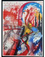 Salvador Dalì, Atto V, Scena III, serigrafia, 31x42 cm, tratta da Romeo e Giulietta, 1975