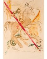 Salvador Dalì, The lance of chivalry, litografia, 80x60 cm, 1978/79
