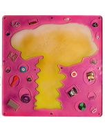 Renzo Nucara, Stratofilm (antiatomica), Plexiglass, resine, oggetti, 73x73 cm