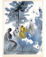 Salvador Dalì, Familia Ruth moabitidis, litografia, 50x39 cm, tratta da La Sacra Bibbia, 1964