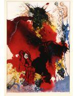 Salvador Dalì, Iesus a satana tentatur, litografia, 50x39 cm, tratta da La Sacra Bibbia, 1967