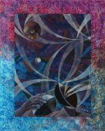 Milo, Il Pensatore, acrilico su tela, 75x60 cm