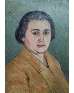 Giovanni Malesci, Ritratto, olio su tavola, 46x35 cm