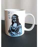 Blub, Gioconda, mug (tazza) in porcellana, h 9,5 cm