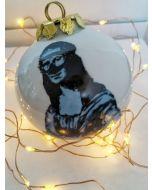 Blub, Gioconda, pallina di Natale in porcellana, h 7,5 cm
