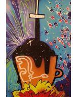 La Pupazza, L'universo nel rubinetto, grafica su PVC, 31X47 cm