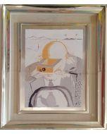 Salvador Dalì, Il Banchiere, serigrafia su lastra d'argento, 30x40 cm, 1980