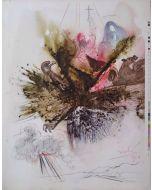 Salvador Dalì, Ecce quasi filius hominis in nubibus us caeli, litografia tratta da La Sacra Bibbia, 50x40 cm (Prova di colore)