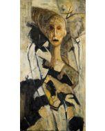 Marino Benigna, Ossessione III, olio su tela, 50x100 cm, 2010