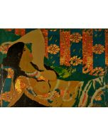 Salvatore Fiume, Senza titolo, serigrafia su tessuto, 60X80 cm