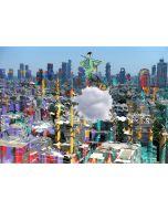 Norma Picciotto, In equilibrio instabile sulla città liquida, fotografia con elaborazione digitale, stampa su Elicobond, 100x70 cm