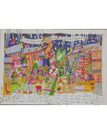 Francesco Musante, Respiro gelido dell'inverno, serigrafia materica, 70x50 cm