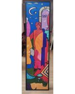 Carlo Massimo Franchi, Dream, olio su plexiglas opalino, 171x46x12,5 cm