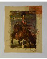 Enrico Pambianchi, Cavalli e cavalieri, tecnica mista su tela, 51x60 cm, 2011