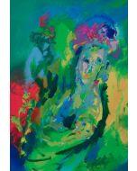 Ernesto Treccani, Maternità fiorita, serigrafia, 70x50 cm
