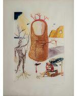 Salvador Dalì, La Visione dell'Angelo di Cap de Creus, litografia, 70x50 cm
