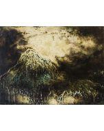 Enzo Rizzo, Terra celeste 2, olio su tavola, 62,5x84 cm