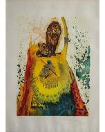 Salvador Dalì, Les Lions, litografia a 11 colori, 76x54cm