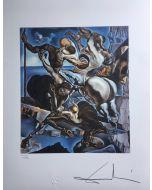Salvador Dalì, Family of marsupial centaurs, litografia, 50x65 cm, 1988