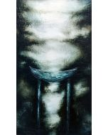 Enzo Rizzo, Trono 1, olio su tavola, 125x72 cm