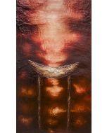 Enzo Rizzo, Trono 2, olio su tavola, 125x70 cm