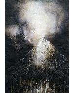 Enzo Rizzo, Terra celeste 3, olio su tavola, 50x35 cm