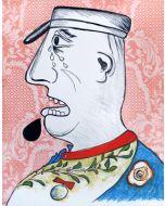 Enrico Baj, Le Grand Charles, litografia, 56x45 cm, 1965