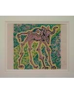 Salvador Dalì, Elefante - cicogna, litografia, 49x65 cm tratta da Les Vitraux, 1973