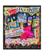 """Francesco Musante, L'informatico, serigrafia materica, 23x20 cm, tratta dalla serie """"I Mestieri"""""""