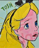 Andrew Tosh, La sportiva, acrilico su tela, 40x50 cm