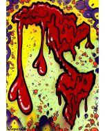 La Pupazza, Americacuore, acrilico e spray su carta, 50x70 cm