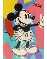 Andrew Tosh, Mickey, acrilico e smalto su carta, 33x48cm, 2020