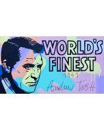 Andrew Tosh, World's Finest, tecnica mista su tela, 50x90 cm