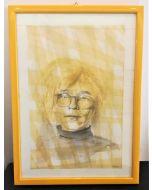 Oscar Morosini, Omaggio a Andy Warhol, acquarello su carta,  26x36cm (con cornice)