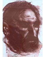 Pietro Annigoni, Volto, sanguigna su carta, 14x19 cm