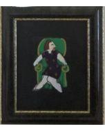 Anna Antola, Senza titolo, tecnica mista su carta, 12x8.5 cm
