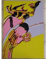 Remo Brindisi, litografia a colori, 67x47 cm