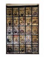 Enrico Pambianchi, Untitled, collage, olio, acrilico, matite, gessetti, resine su cartone d'arazzo, 117x180 cm