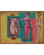 Bruno Cassinari, Senza titolo, litografia su sughero, 55x74 cm, 1981