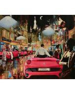 Pisati da Milano, Chapeau Glamour e Ferrari, retouché, 60x70 cm