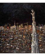 Pier Luca Bencini, Civitas Hominum, acrilico su tavola, 90x80 cm