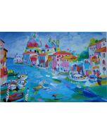 Claudio Malacarne, Gran Canal, serigrafia, 70x50 cm