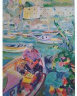 Claudio Malacarne, Ischia, serigrafia, 35x50 cm