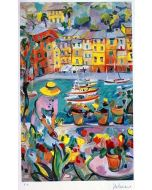 Claudio Malacarne, Portofino, serigrafia, 35x50 cm